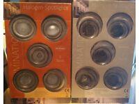 10 x GU10 Mains Voltage Downlights / Spotlights - Satin Chrome Finish