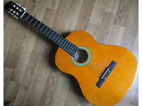 Clifton 4/4 Full Size Acoustic Classical Acoustic Guitar with steel and nylon strings