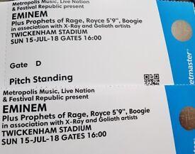 Eminem Twickenham Tickets x2 Sunday 15th July Standing