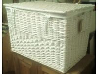 Jasper Conran White large wicker trunk