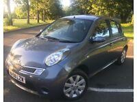 2008 (58) Nissan Micra Acenta+ 1.2 Petrol Manual 5 Door 12 Months Mot Service History 2 Keys Mint