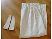 Cream Lined Curtains and tie backs Marks & Spencer