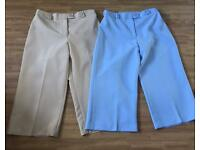 2 pairs of ladies 3/4 lengths size 14