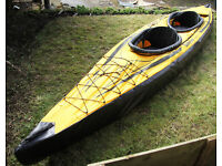 Sevylor Pointer K2 Inflatable 2-person Kayak with skirts and paddles