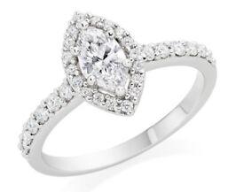 Platinum & Diamond Marquise Engagement Ring still retailing at Beaverbrooks at £5,500