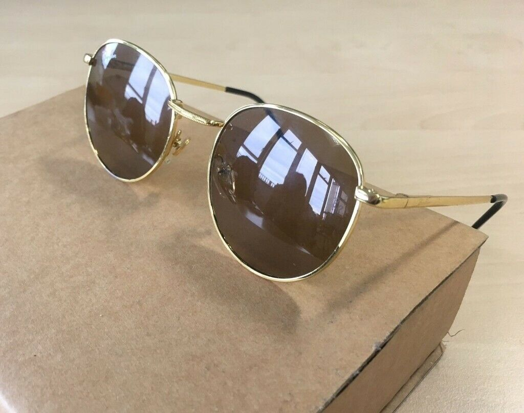 91d8bfbb60dd Mens RAY-BAN Arista round sunglasses brown gold frame glasses coloured  lenses rayban wayfarer