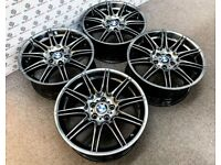 "GENUINE BMW MV4 19"" ALLOY WHEELS *AVAILABLE WITH TYRES* - 5 x 120 - GLOSS GREY - 2220"