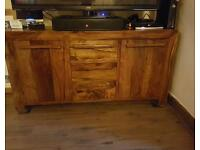 Walnut sideboard very sturdy and well built