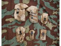 Bundle / Joblot of 6 NEW British Army Desert Pouches (Molle Modular) -B