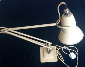 Vintage genuine 1930's / 40's Herbert Terry 1227 Original Cream Anglepoise Lamp for sale