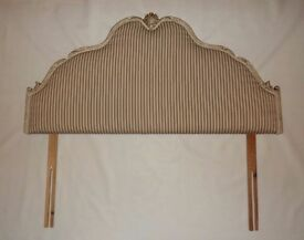 Hand painted and re-upholstered french style stripey double headboard