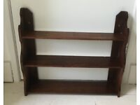 Vintage Oak Wall Shelves, Book Shelf.