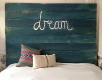 Custom made, rustic Barn Wood Headboards and Signs for sale