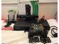 Xbox 360 4GB + kinnect + 10 games + 2 controllers