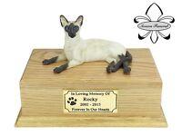 Luxury Solid Wood Oak Urn, pet, cat, ashes, memorial, Siamese