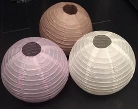 BAMBOO HANGING LANTERNS BNWT 45 QUANTITY 3 COLOURS