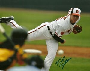 MICHAEL WRIGHT BALTIMORE ORIOLES SIGNED AUTOGRAPHED 8x10 PHOTO W/COA