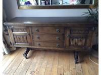 Old Charm Solid Oak Sideboard Cabinet