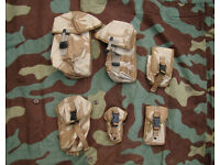 Bundle / Joblot of 6 NEW British Army Desert Pouches (Molle Modular) -B