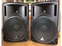 POWERED SPEAKERS (PAIR) - Behringer Eurolive B215A 2-way (400w per speaker)