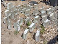 29 Glass Bricks 190mm x 190mm x 80mm thick - Clear glass