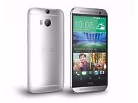 HTC one M8 16gb silver, excellent condition unlocked