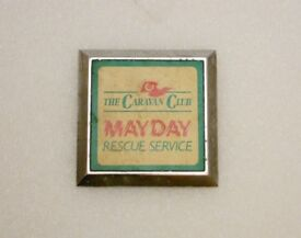 Car Badge - Caravan Club Rescue Service- Style 2. Part of set Automobilia 4 sale. REDUCED IN PRICE.