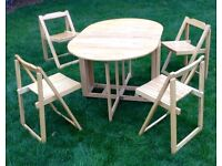 John Lewis Butterfly Foldaway Table and Chairs