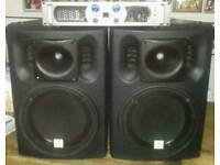 Prosound 800 amplifier and Thomann 'The Box' PA202P Speakers
