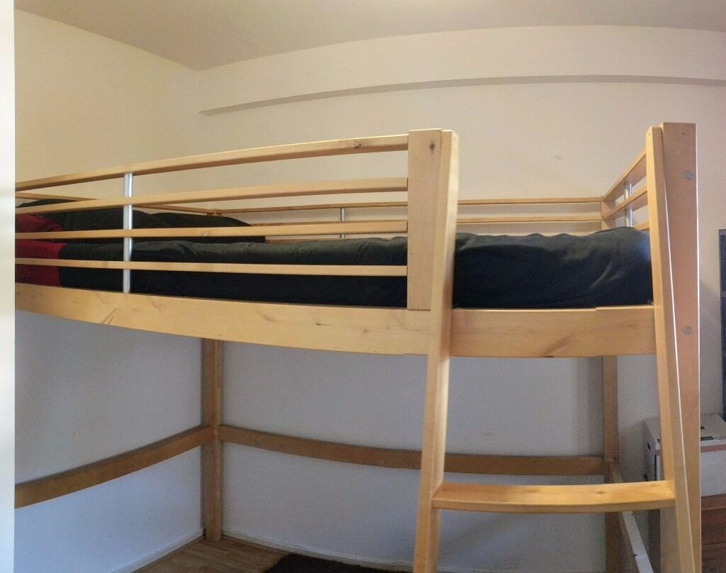 ikea fjelldal double loft bed frame new version called stora in tower hamlets london gumtree. Black Bedroom Furniture Sets. Home Design Ideas