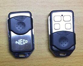 Neco remote Control for Roller Shutters / Garage Door - 433MHz - Black/Silver