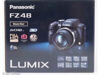 Panasonic Lumix DMC FZ48 12M pixel super zoom bridge camera