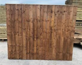 🦋 Pressure Treated Brown Vertical Board Wooden Garden Fence Panels