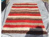 Divine striped super soft deluxe rug Size 132X97cm Used good condition £18