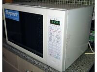 Hotpoint MC51/2P Combination Microwave Oven and Grill - white, excellent condition tested & working