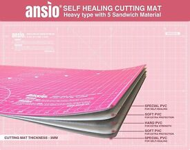 ANSIO® A1 Double Sided Self Healing 5 Layers Cutting Mat Metric & Imperial (Pink/Red)
