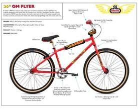SE Racing OM Flyer 2018 model, Se bikes, Big ripper PK ripper Floval Flyer Bmx Cruiser Bmx Race
