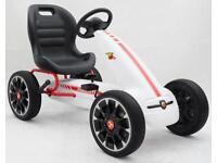 Licensed Abarth Pedal Go Kart - White
