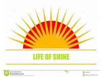 LIFE OF SHINE FOR ALL YOUR CLEANING NEEDS