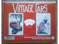 Dual Pack Of Piatnik 'Vintage Cars' Playing Cards (boxed)