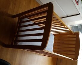 Kiddicare Solid Wood Cot and Waterproof Mattress