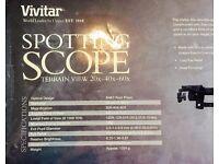 Vivitar Spotting Scope with Terrain View 20x-40x-60x