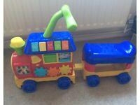 Toddler toy push along train