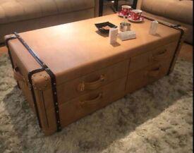 Leather handmade trunk coffee shop RRP 800.00