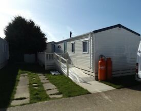 Parkdean Hayling island caravan for sale with decking and pitch fees paid static holiday home
