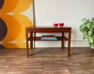Genuine Parker Teak Coffee Table with Shelf, Mid Century Vintage Retro