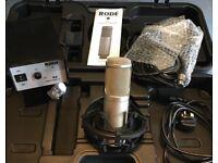 Rode K2 Valve studio microphone kit with variable polar pattern Omni/cardiode/fig8