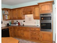 Kitchen units, solid wood, worktops