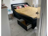 Japanese style bed with drawers