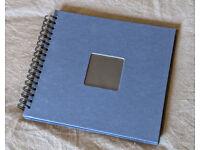 Free Hama Spiralbound photo album / scrapbook 28 x 24 cm, blue / black